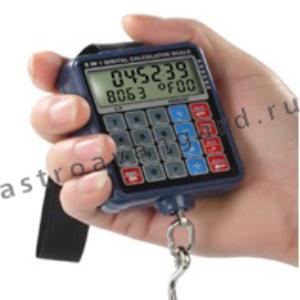 Весы-безмен с часами и калькулятором