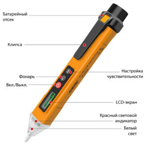 Мультиметр-ручка с LCD-экраном